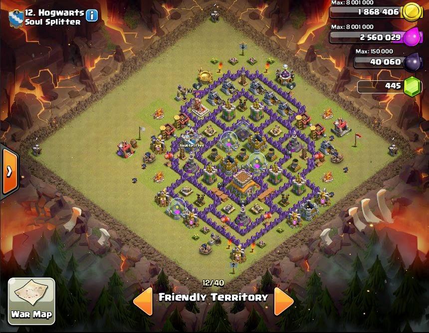 Hogwarts - COC Clans War Base