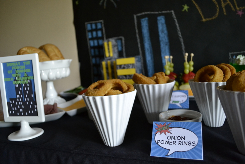 Super Dad Father's Day Luncheon onion power rings