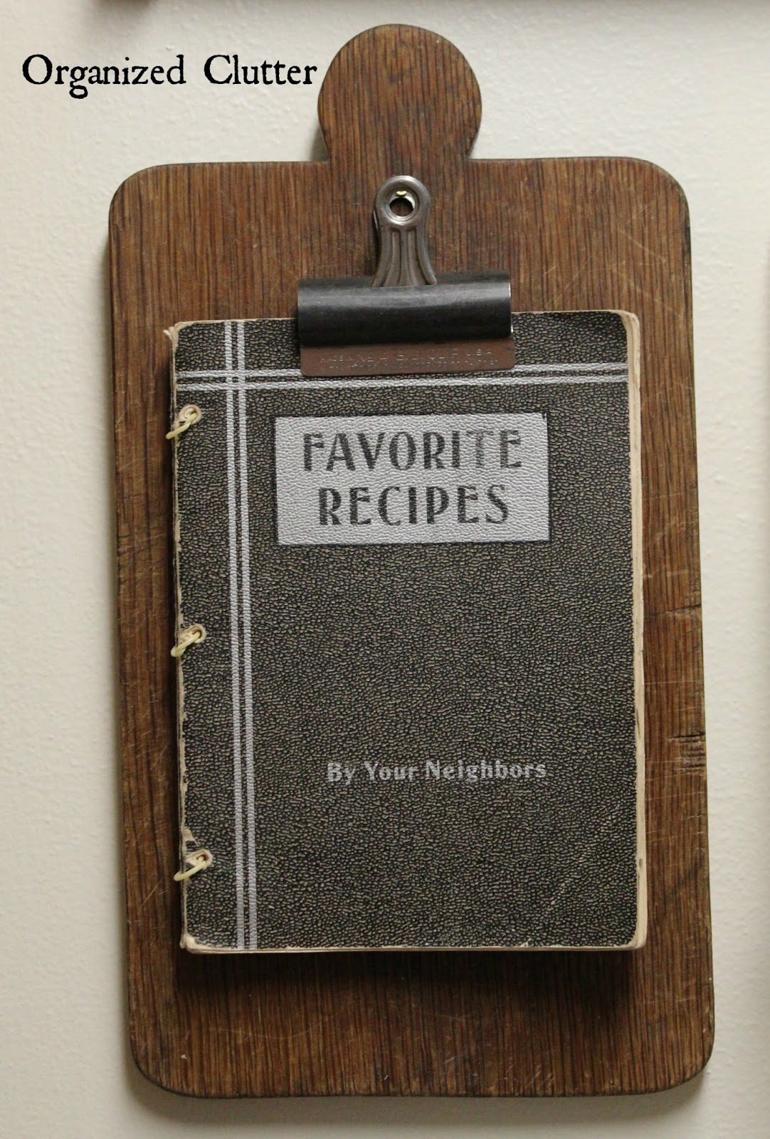 Repurposed Cutting Board www.organizedclutter.net