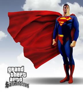 GTA San Andreas Superman MOD pc gam...