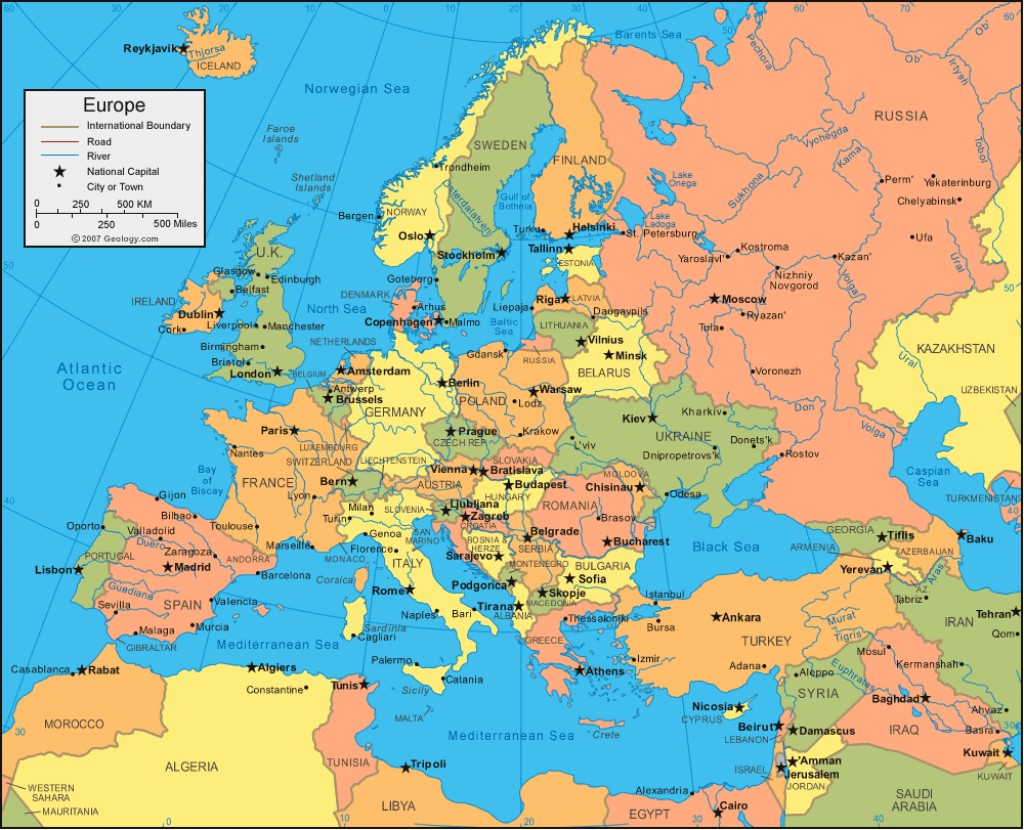 Europe Countries And C...