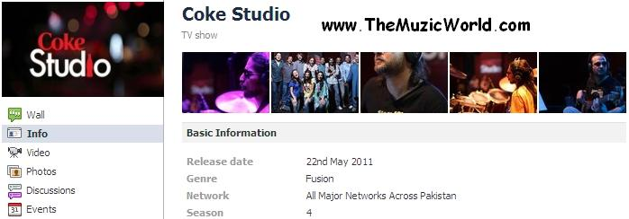 COKE STUDIO Season 4 Starts on 22nd May, 2011