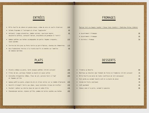 restaurants menu design ideas images