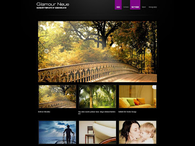 Glamour Neue, Photo Blog Template