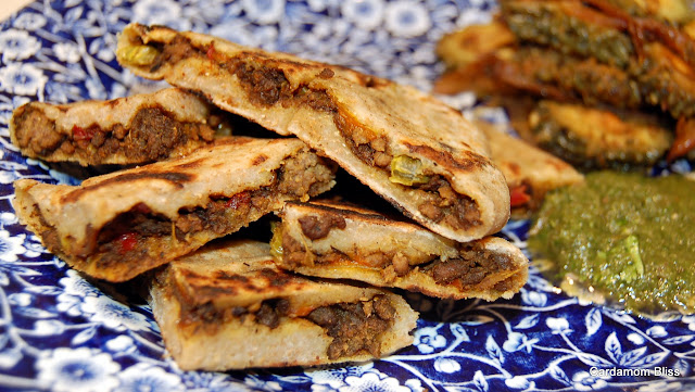 Beef Samosas, no Chamosas, no, Chapatties, no, Beef Paranthas?
