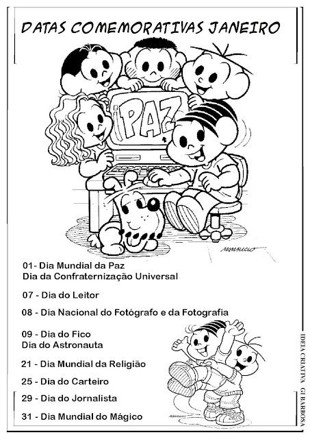 Datas Comemorativas Janeiro