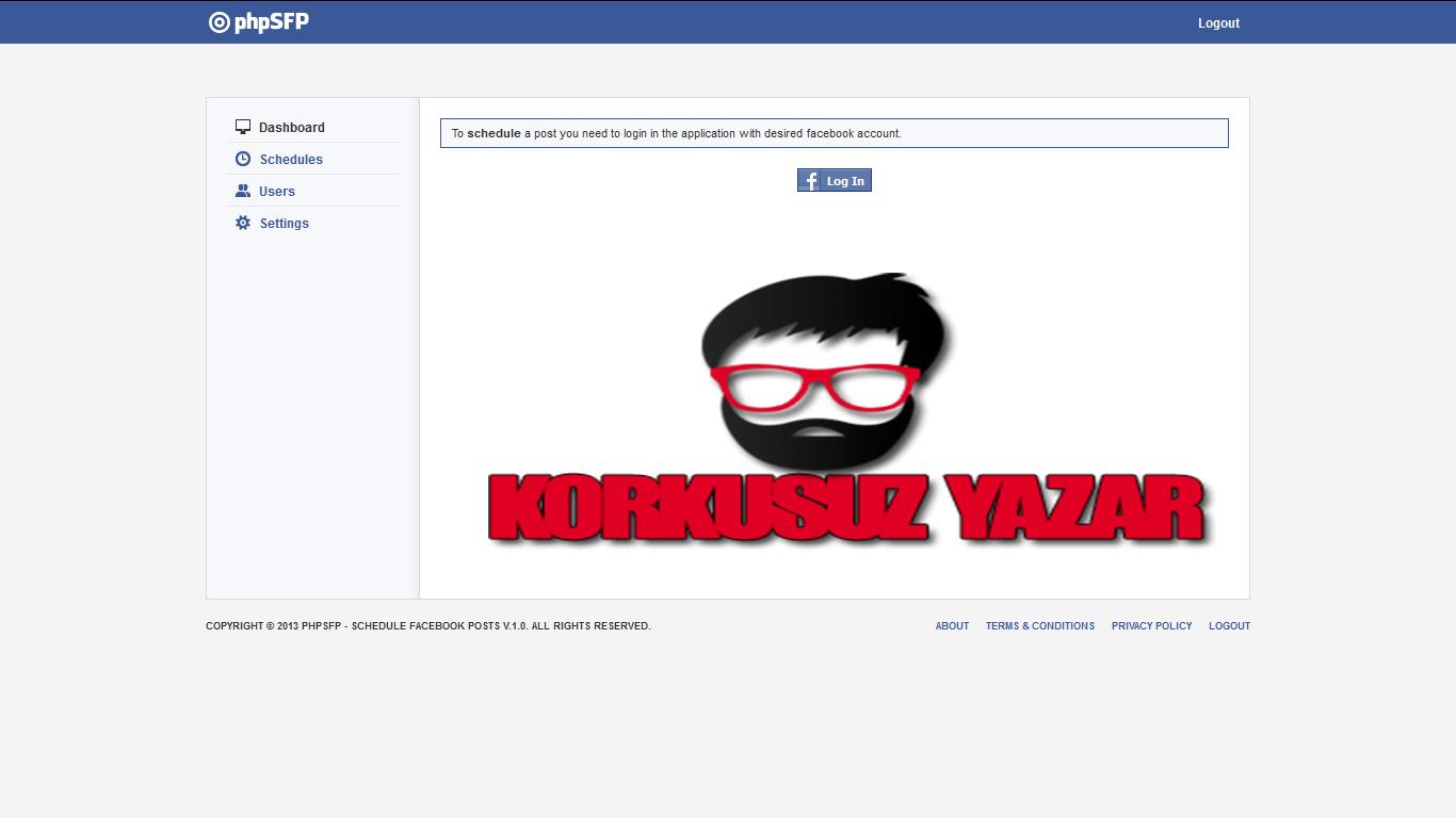 HelpToShare.net Scripti Facebook ile Uygulamaya Girş Ekranı