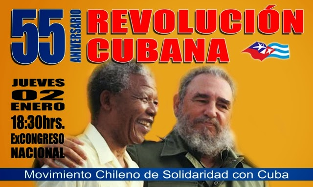 INVITACIÒN 55 ANIVERSARIO REVOLUCIÒN CUBANA
