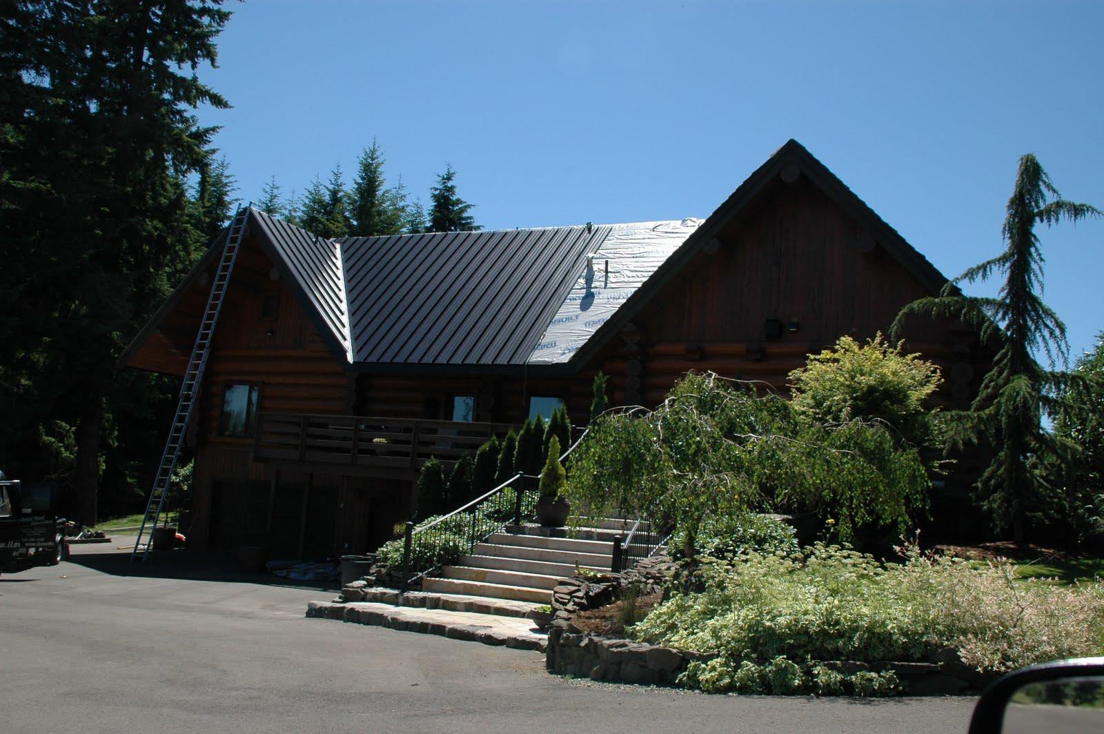I love metal roofs work of art in progress - Black metal roof pictures ...
