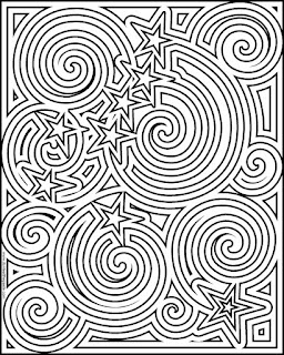 Coloring page inspired by Alaska's flag- Ursa Major and the North Star available in jpg and transparent PNG