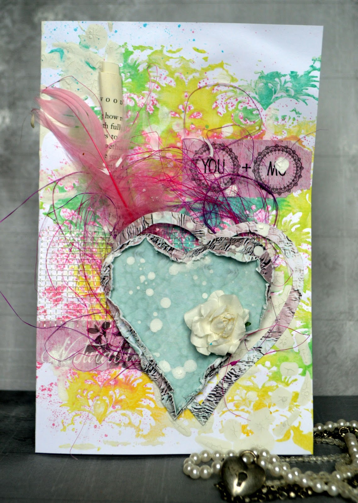 agnieszka bellaidea card mixedmedia 13arts