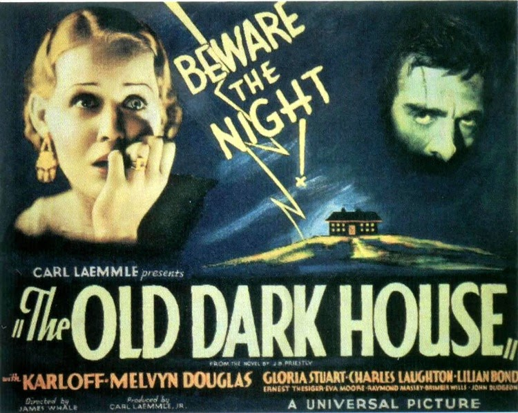 A Vintage Nerd, Classic Film Blog, Classic Haunted House Movies, Vintage Blog, The Old Dark House