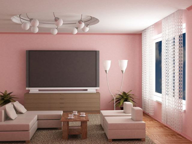 Pink Living Room Paint