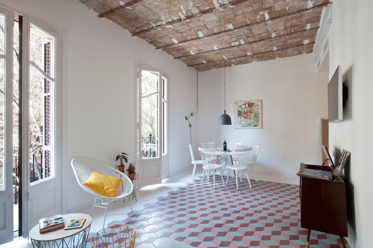 Dise o interior de apartamento tur stico en barcelona ilia estudio interiorismo ilia estudio - Estudio interiorismo barcelona ...