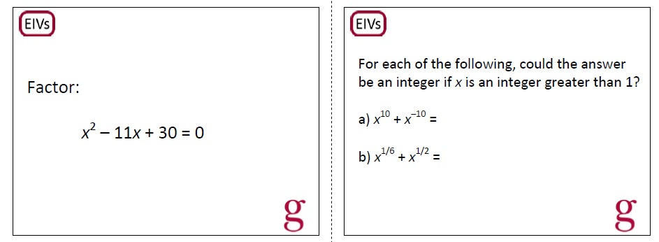 Equations, Inequalities, & VICs