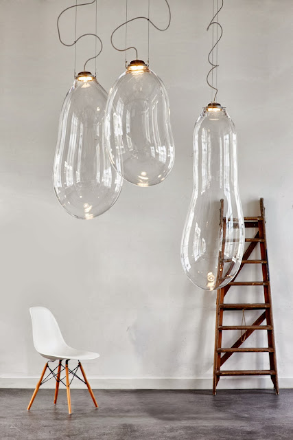 lamparas burbuja de cristal para techo
