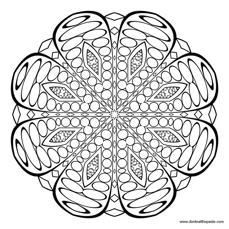 Dont Eat The Paste Pattern And Mandala Coloring Page