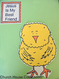 "Easter Chick Cutout ""Jesus Is My Best Friend"""