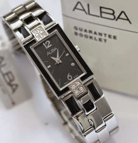 Alba AH 7C02 SS Original Silver Hitam