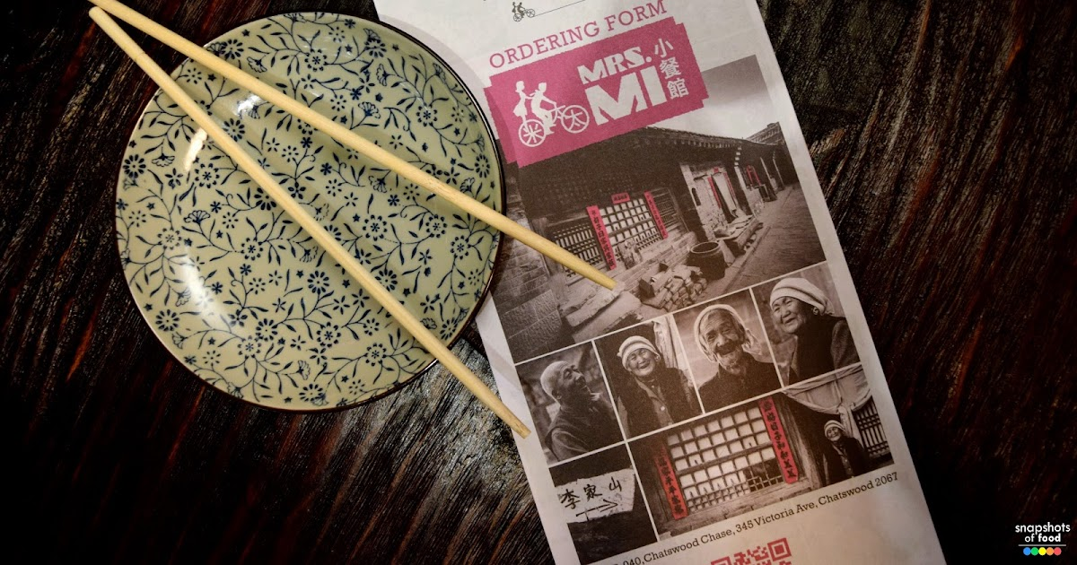 Snapshots of Food : Mrs Mi and her Robot Chef | Chatswood