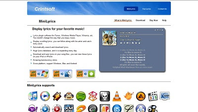 MiniLyrics, Miscellaneous Audio / Video Software
