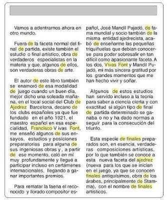 Extracto del libro Iniciación al ajedrez de Lorenzo Ponce Sala