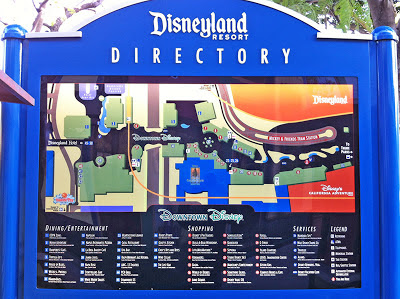 Disneyland Resort Directory map sign Downtown Disney DCA