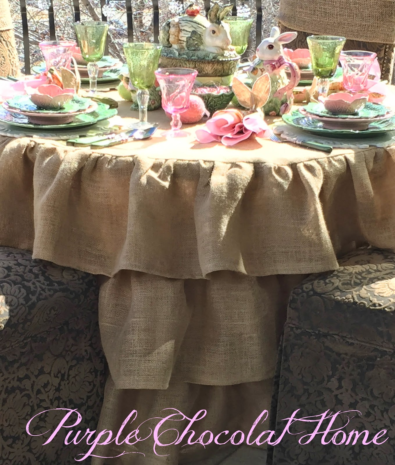 Peter Cottontail Tablescape - Purple Chocolat Home