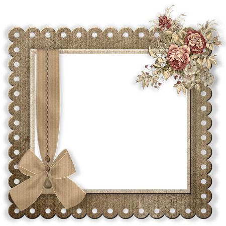 Miriams-scrap: Aged Wedding Kit add. frame/cluster