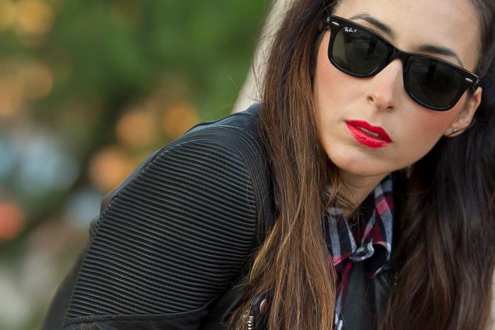 Horana Corded Leather  Biker Jacket de Muubaa