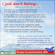 This poignant poem about living with Myalgic Encephalomyelitis (ME) has been .