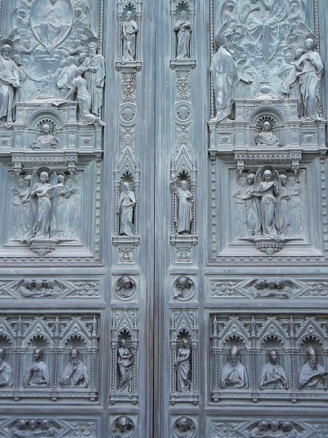 Doors Of Florence Cathedral Italy