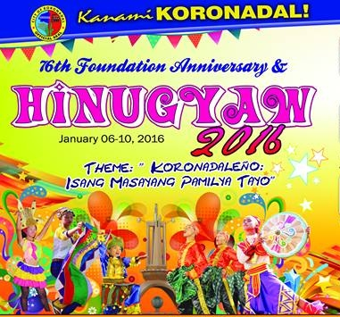 Koronadal Hinugyaw Festival 2016 Schedule is here!