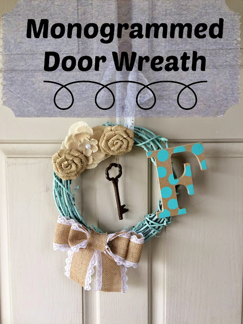 Monogrammed Door Wreath, DIY, Craft, How to Make a door Wreath with monogram