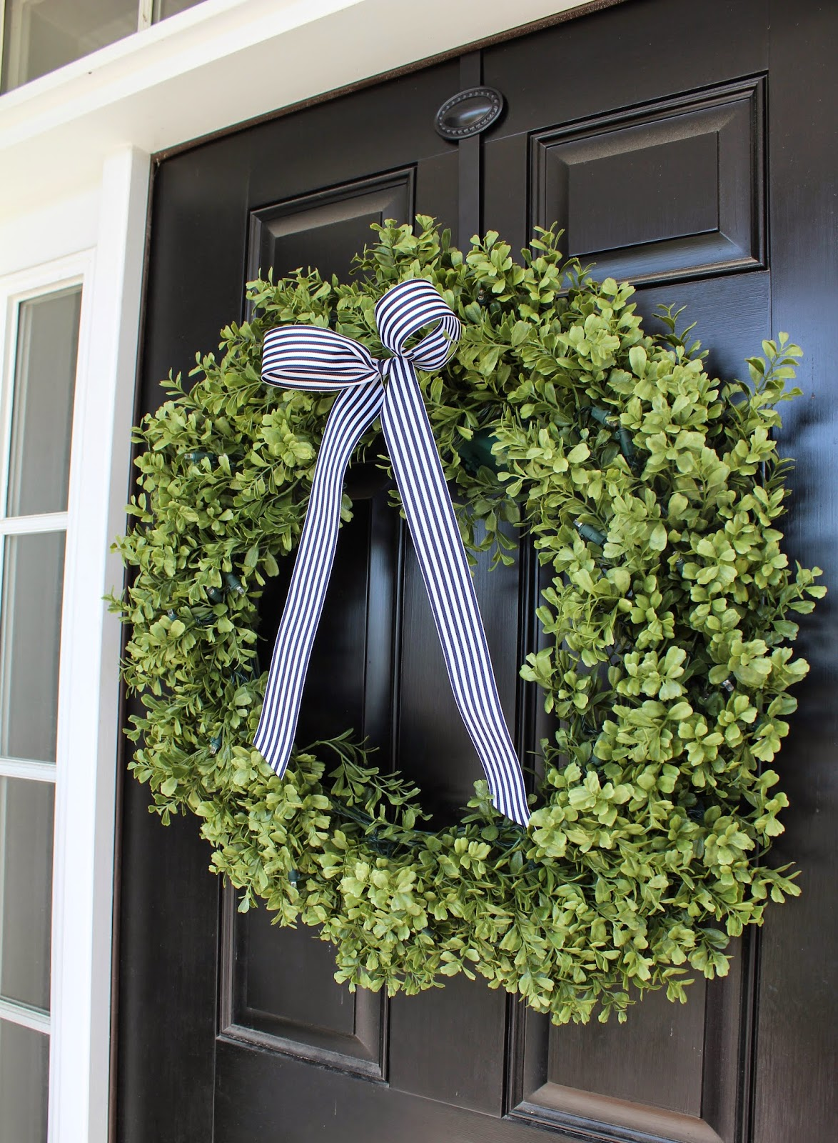Boxwood Wreath, Front Door, Curb Appeal, Porch Decor