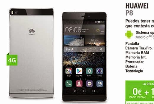Huawei P8 YOIGO: precio y características