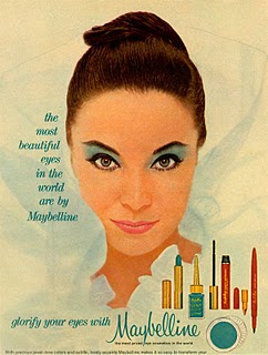 1960s Maybelline eyeshadow lipstick Just Peachy, Darling
