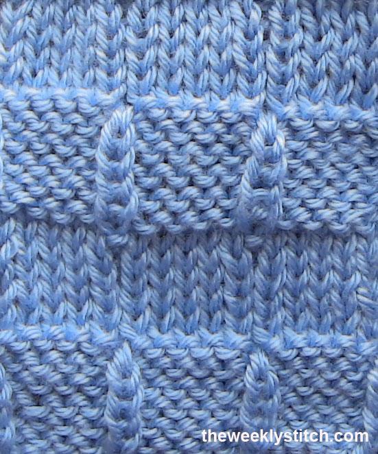 Knitting Ribbon Stitch : Threaded Ribbon Stitch The Weekly Stitch