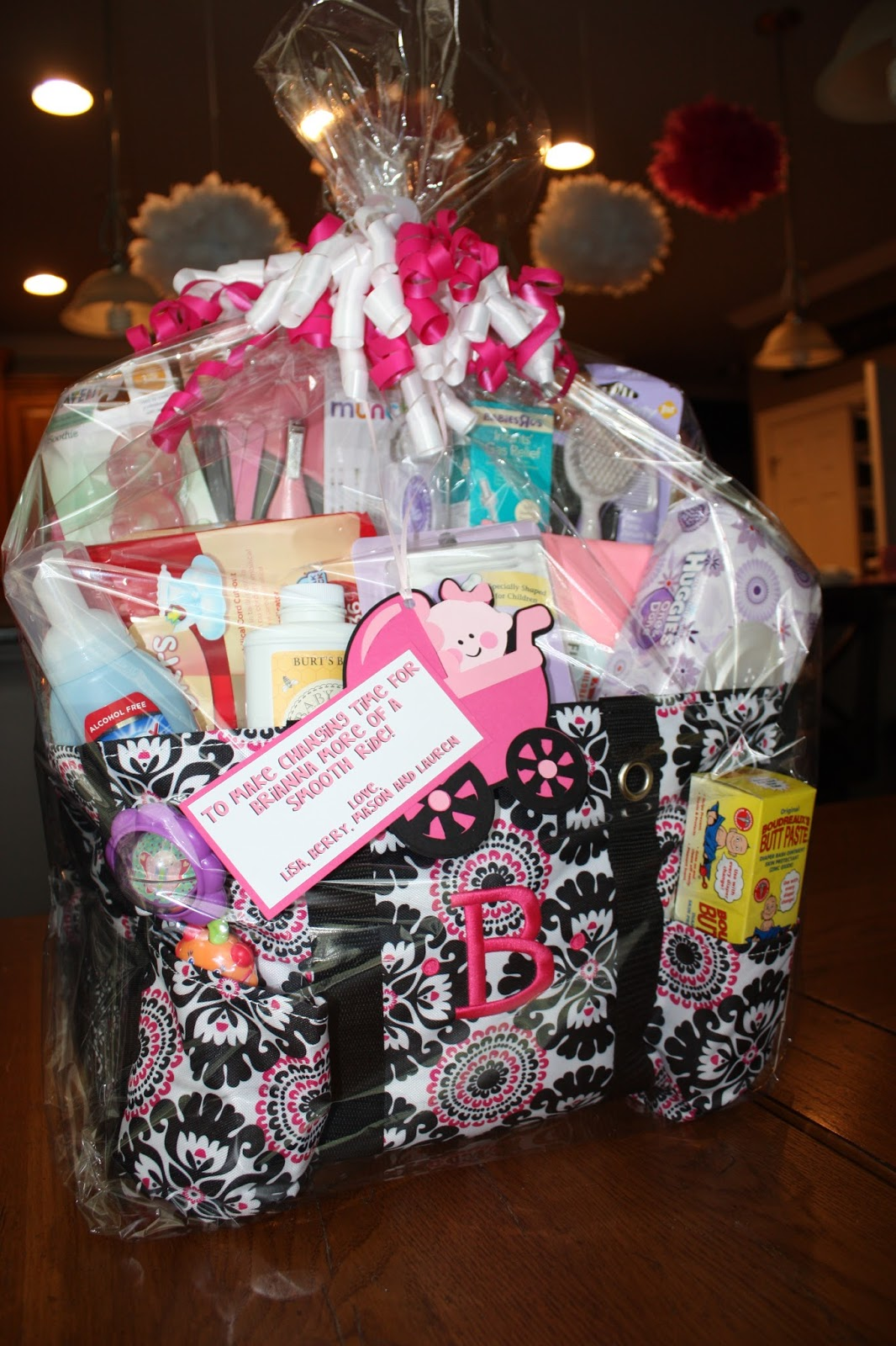 Baby Gift Sack : Life with my ginger snaps baby shower diaper bag gift basket
