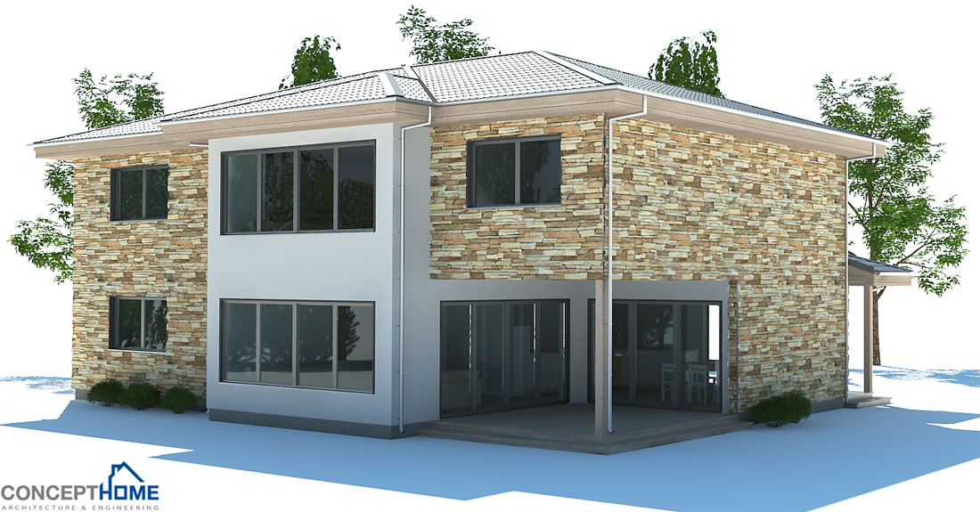 Contemporary house plans modern contemporary home plan ch180 for Modern house design 2013
