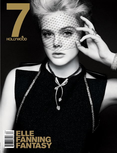 Elle Fanning covers 7 Hollywood Magazine's Winter 2014