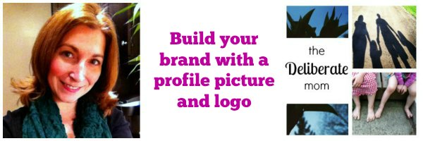Brand your blog with a profile picture and a logo. #blogging tips
