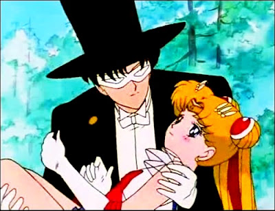 sailor moon and tuxedo mask first kiss  Sailor Moon