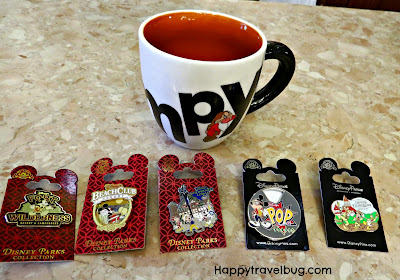 Grumpy mug and Disney Collector pins that I purchased