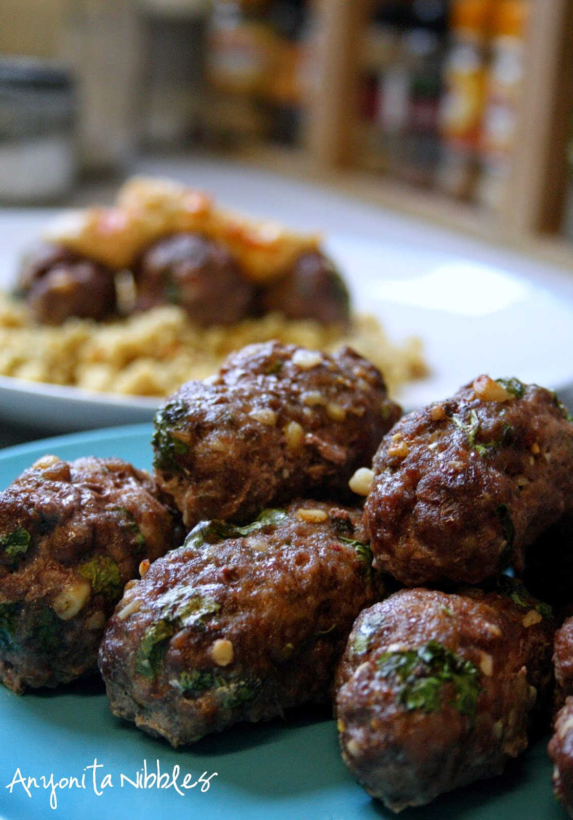 Pine nut and parsley studded lamb koftas by Anyonita Nibbles