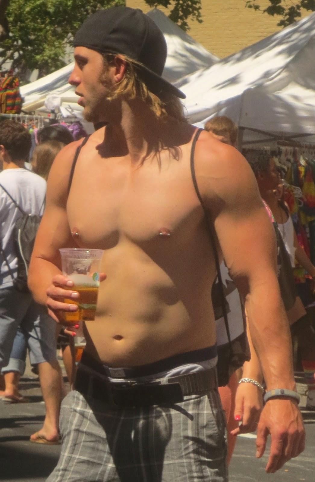 image Long hair gay man cock after face nailing