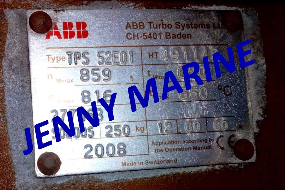 abb tps 52 e01 brand new turbocharger jenny marine rh jennymarine blogspot com ABB Ship Turbocharger ABB Turbocharger Company