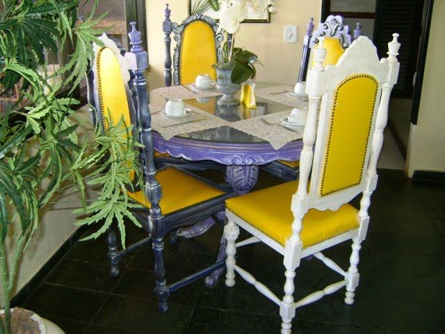 Conjunto de mesa em Pátina
