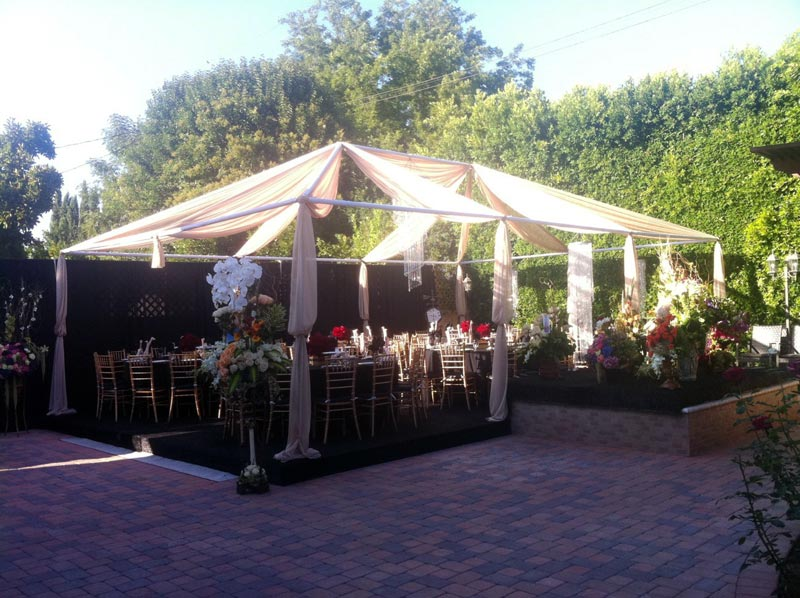 EVENT Table Rentals angeles Party Lighting Chair table wedding PRODUCTIONS:  los rentals STAR Tent  linens