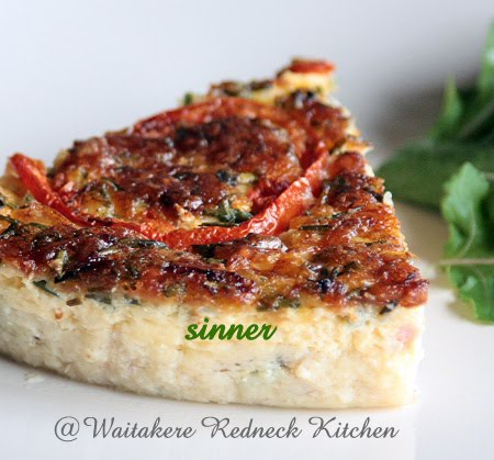 Salmon & Ham Quiche